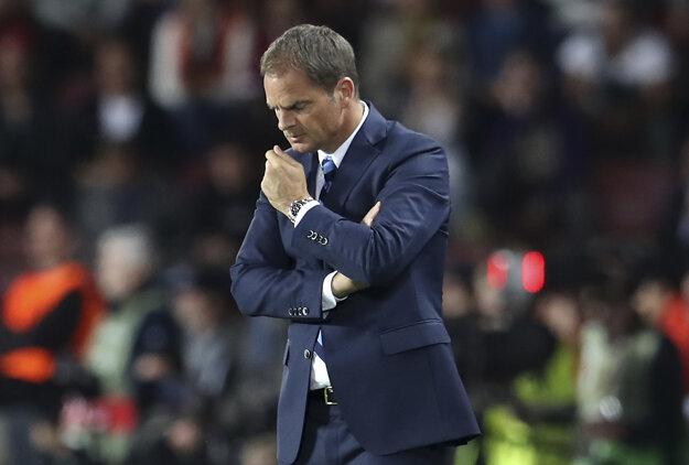 Frank de Boer bol po zápase právom sklamaný.