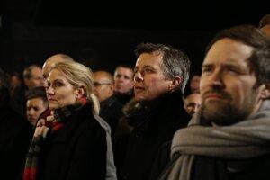Dánska premiérka Helle Thorningová-Schmidtová a korunný princ Frederik.