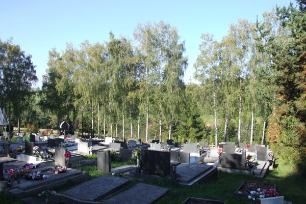 Cintorín je na kopci, ohraničený takmer sedemdesiatimi brezami, apatrí tak kvizuálnym dominantám obce.