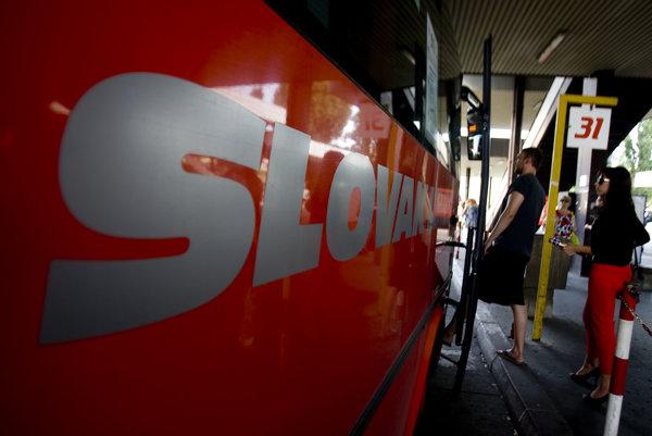 Autobusy spoločnosti Slovak lines.