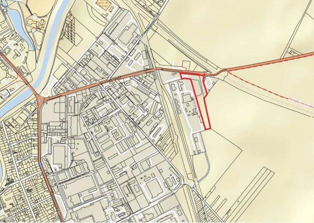 Mapka miesta, kde sa nachádza čierna skládka.