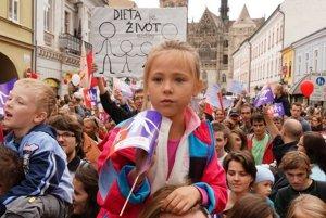 Na Pochod za život v roku 2013 prišlo v Košiciach 80-tisíc ľudí.
