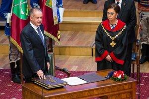 Predsedníčka Ústavného súdu Ivetta Macejková minulý rok dohliadala na sľub, ktorý skladal prezident Andrej Kiska.