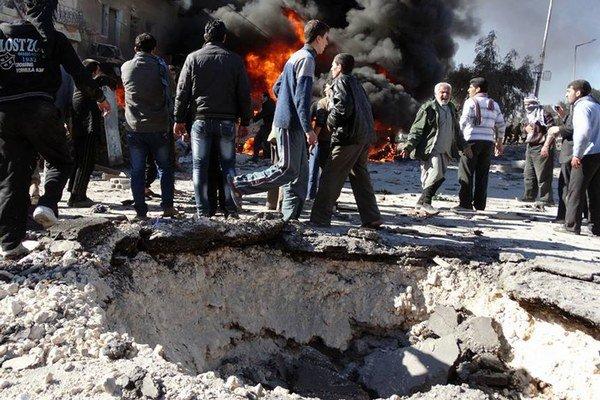Kazetová munícia sa stále používa v občianskej vojne v Sýrii.