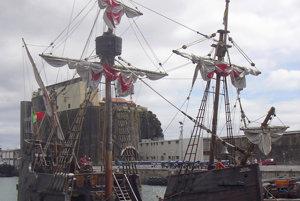 Replika Kolmbovej lode - Santa Maria.