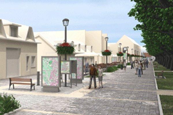 Takto by malo vyzerať nové námestie v Bojniciach.