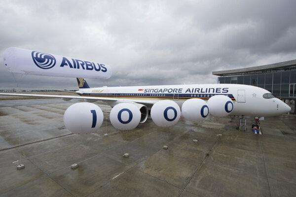 Slávnostné odovzdanie jubiljného Airbusu A350