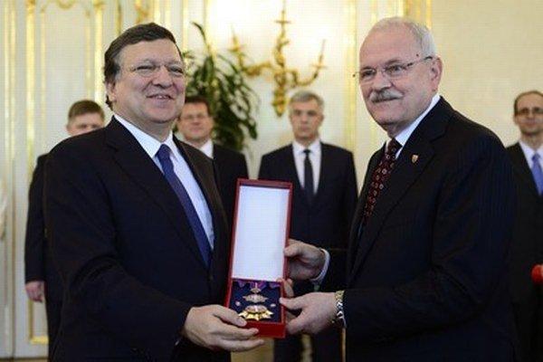 José Manuel Barroso a Ivan Gašparovič.