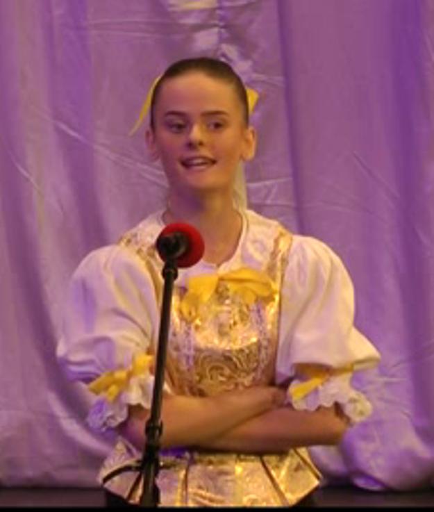 Dominika Puškášová. Porota chválila jej výkon, skončila v zlatom pásme.