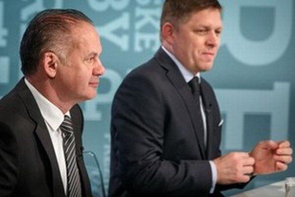 Andrej Kiska a Robert Fico.