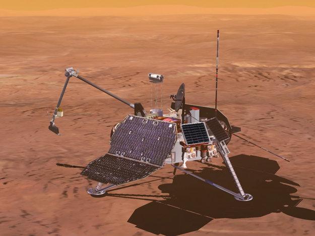 Vizualizácia Mars Polar Lander.