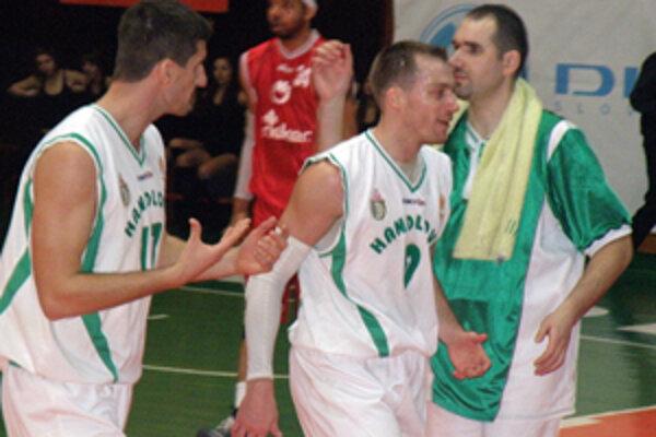 Trojica Handlovčanov, zľava: Ivan Barišič, Juraj Gavák a Jaroslav Štefánik.