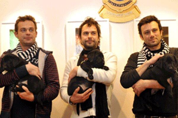 V predstavení Na koho to slovo padne sa v Prievidzi 28. februára predstavia (zľava) aj Marián Miezga, Juraj Kemka a Róbert Jakab.
