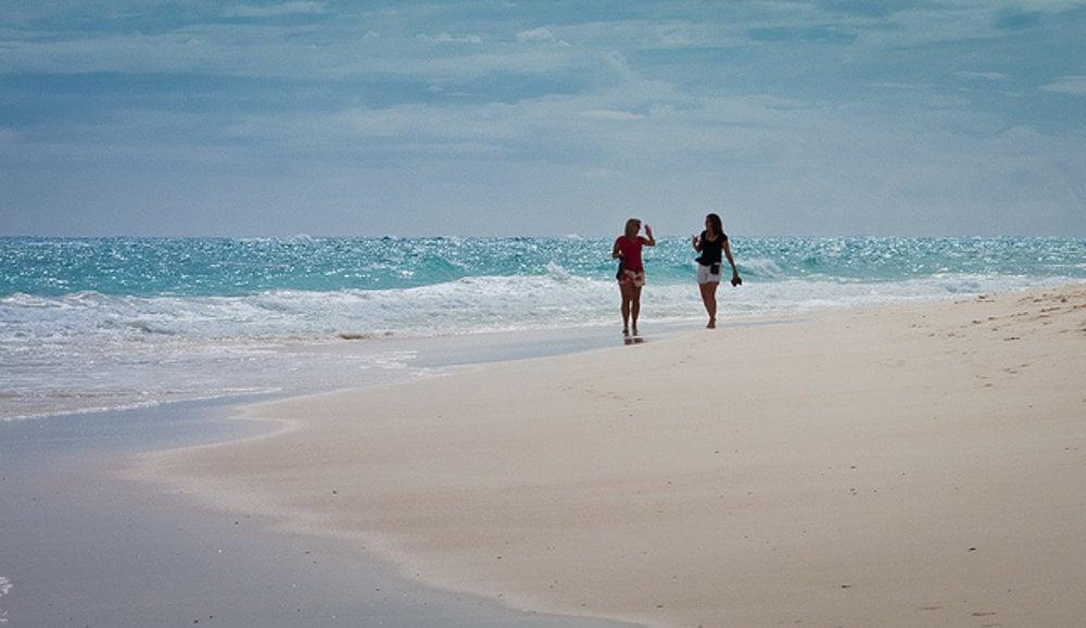 Elbow Beach, Bermudy.