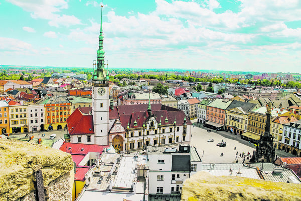 Historické centrum Olomouca.
