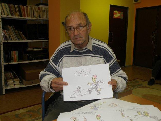 Ľubomír Nikolini karikatúry kreslí len keď má náladu.