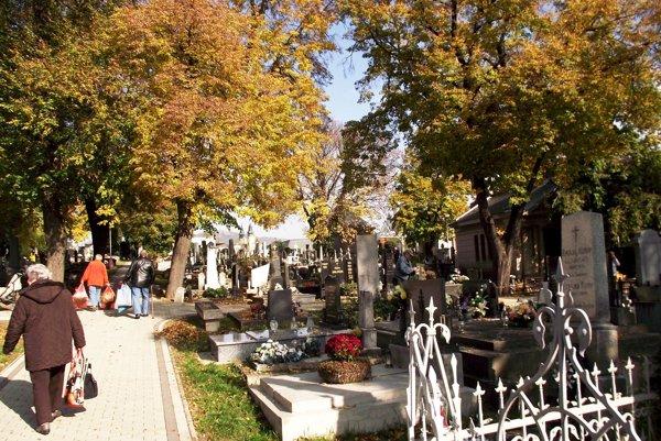 Mestský cintorín v Nitre.