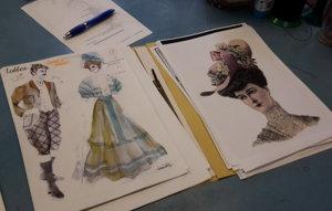Vizuál každého kostýmu určuje aj charakter materiálu.