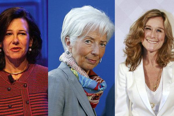 Ana Particia Botin, Christine Lagarde, Angela Ahrendts