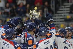 Slováci sa radujú z víťazstva na Nemeckom pohári.