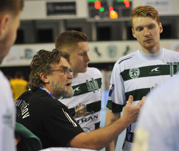 Tréner Prešova Rastislav Trtík (vľavo).