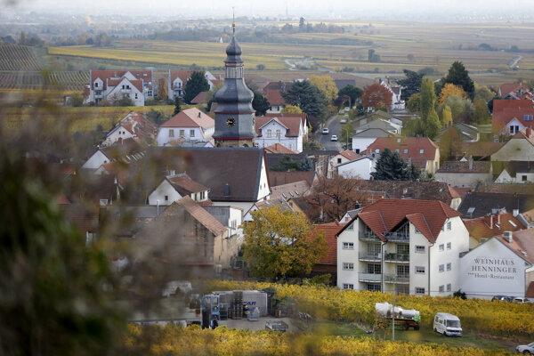 Pohľad na nemeckú dedinu Kallstadt.