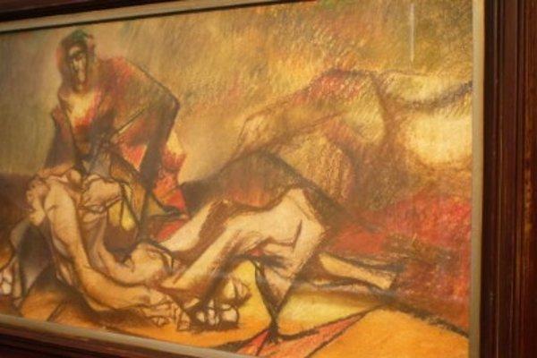 Jedno zdiel maliara Vincenta Hložníka vexpozícii Považskej galérie vŽiline.