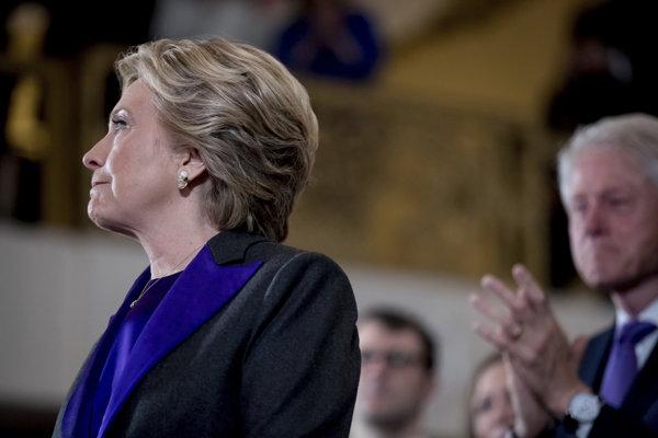 Clintonovú prehra mrzela.