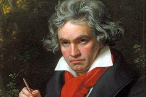 Značne zidealizovaný portrét 50-ročného Ludwiga van Beethovena od nemeckého maliara Josepha Karla Stielera.