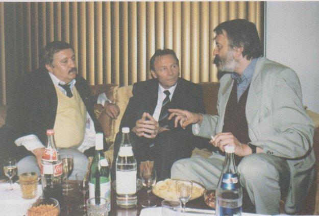 S hercami na veľvyslanectve v Kanade. Marián Labuda a Milan Lasica.