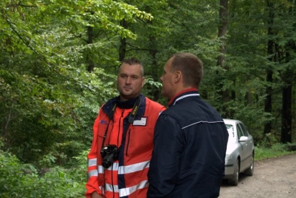 Sýkora aČislák. Odfotení na súťaži Záchrana 2010.