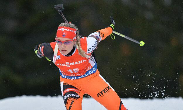 Paulína Fialková zvládla skvelo stíhacie preteky.