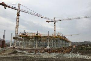 Výstavba obchodného komplexu Eperia v Prešove.