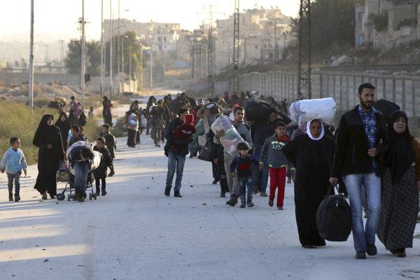 Ľudia stále utekajú z Aleppa.