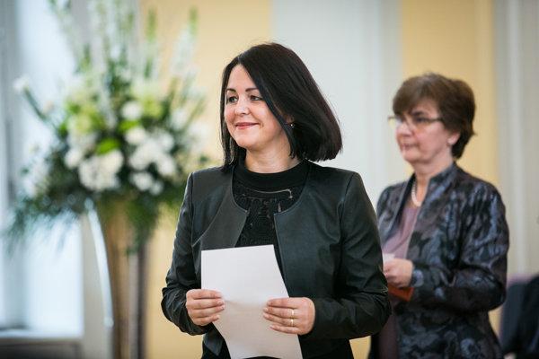 Erika Jurinová (OĽaNO-NOVA).