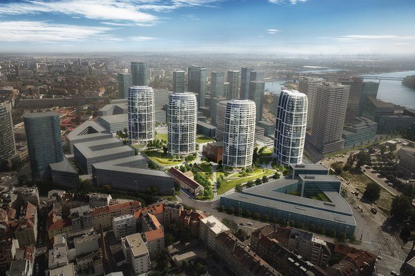 Rezidenčné veže nového projektu Penty majú mať 105 metrov.