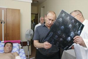 Vladimír Putin v nemocnici.