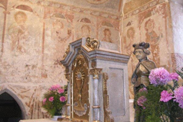 Aj takto vyzeral porubský kostol počas niekoľkoročného reštaurovania.