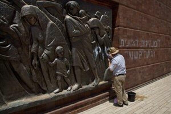 Pamätník holokaustu v Jeruzaleme.