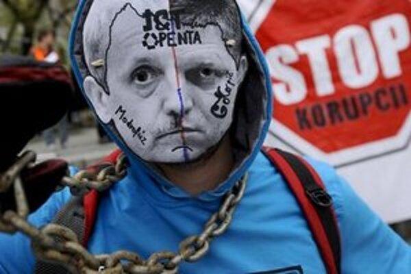 Protest aktivistov Vízie 21.