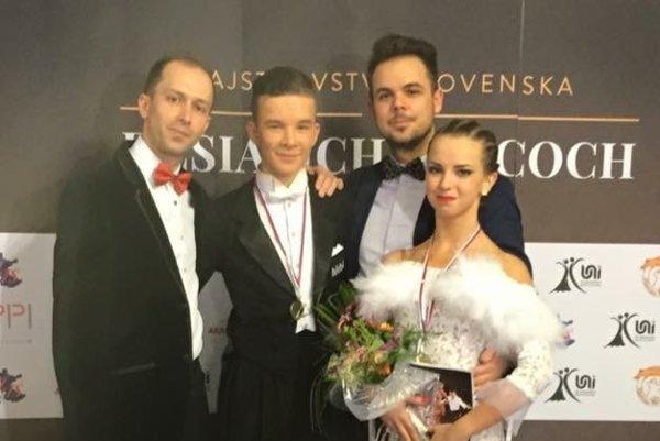 F. Ševčík a S. Dókušová po jednom z majstrovských výkonov.