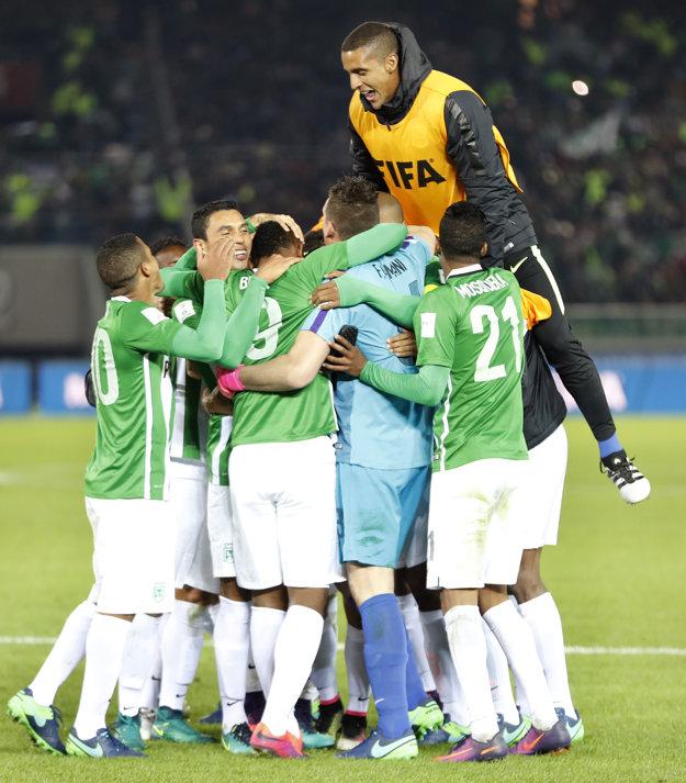 Hráči Atlética Nacional oslavujú víťazstvo v zápase o tretie miesto.