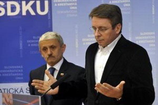 Podpredseda SDKÚ Ivan Mikloš.