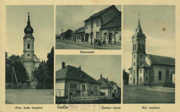 Pohľadnica zo Želiezoviec.