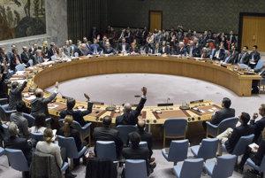 Hlasovanie Bezpečnostnej rady OSN.