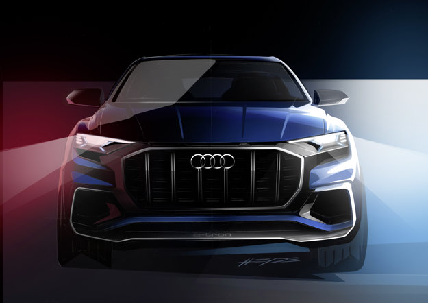 Audi Q8 zaujme širokou osemuholníkovou maskou chladiča