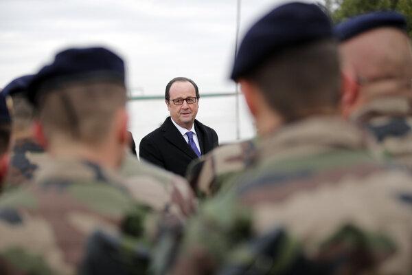 Francois Hollande na návšteve Iraku.