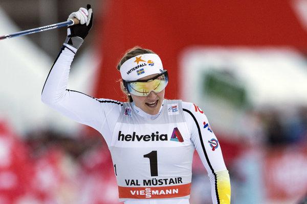 Švédska bežkyňa na lyžiach Stina Nilssonová - ilustračná fotografia.