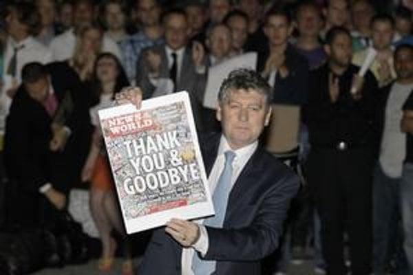 Posledné vydanie News of the World  z impéria Ruperta Murdocha sa včera rozlúčilo pozdravom Ďakujeme vám a zbohom na titulnej strane a ospravedlnením za odpočúvaciu kauzu vnútri novín.
