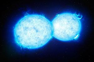 Ilustračné foto zrážky dvoch hviezd.